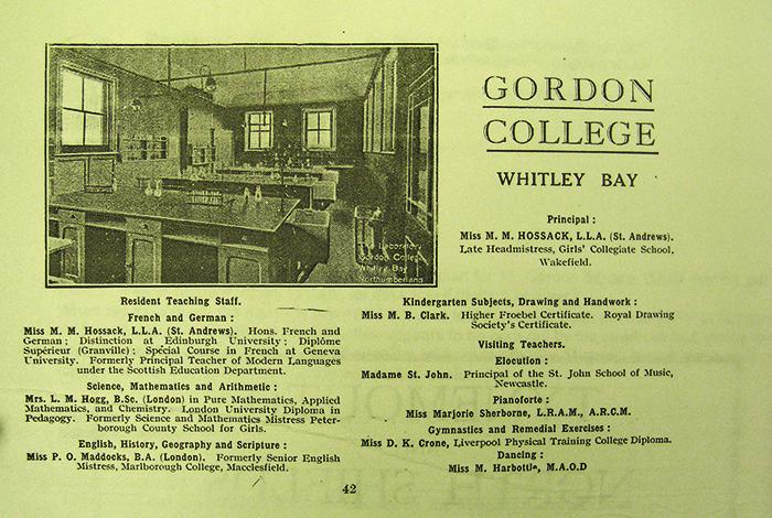 gordon college advert undated