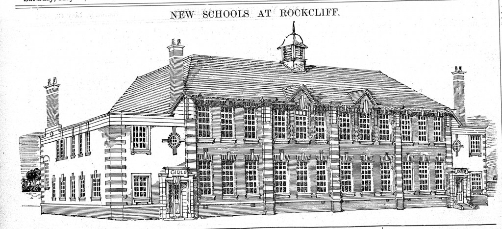 Architect's drawing of the school, 1909.